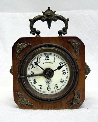 Antique Wood Case Porcelain Face German Lenzkirch Travel Alarm Carriage Clock Carriage Clocks Vintage Clock How To Antique Wood