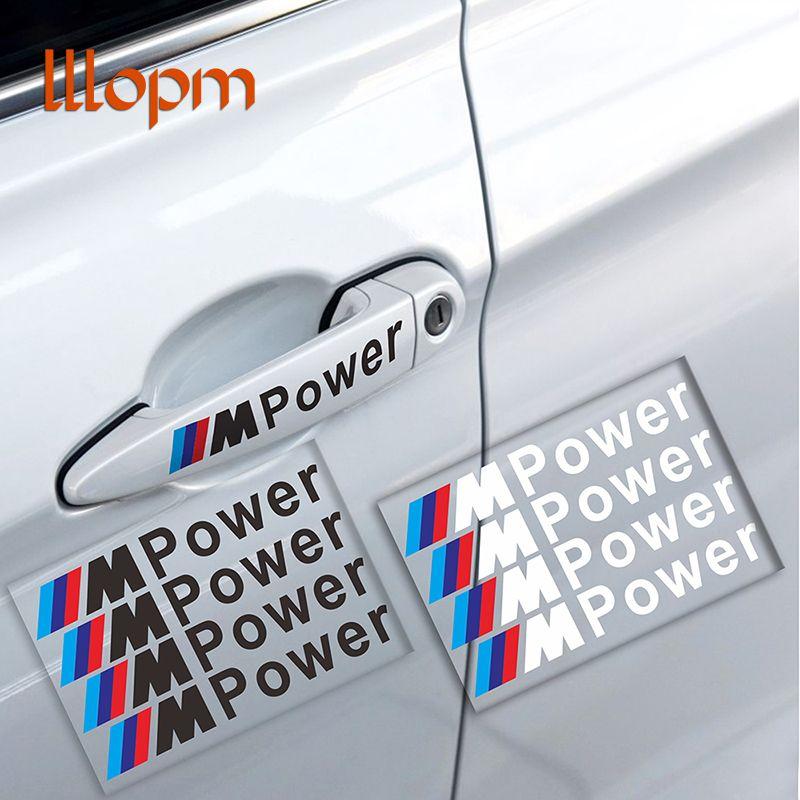 Car Styling 4 Stücke M Power Auto Aufkleber Türgriff Auto