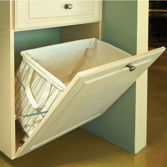 The Tilt Out Laundry Hamper Is A Wire Basket Designed To Mount To
