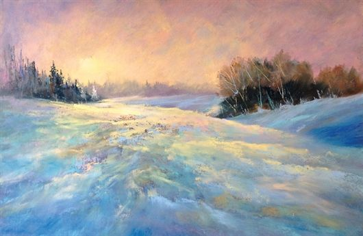 Item View Winter Landscape Painting Pastel Landscape Winter Landscape