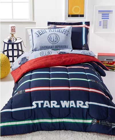 Disney Star Wars Light Saber Twin 5 Piece Comforter Set Reviews
