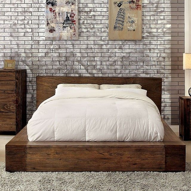 Furniture Of America Cm7628 Low Profile Bed In 2020 Bed Design