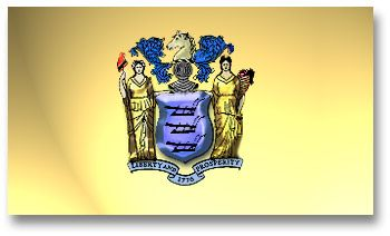 Nj Flag State Flag He New Jersey State Flag Displays The Official State Colors The State State Flags New Jersey Flags Of The World