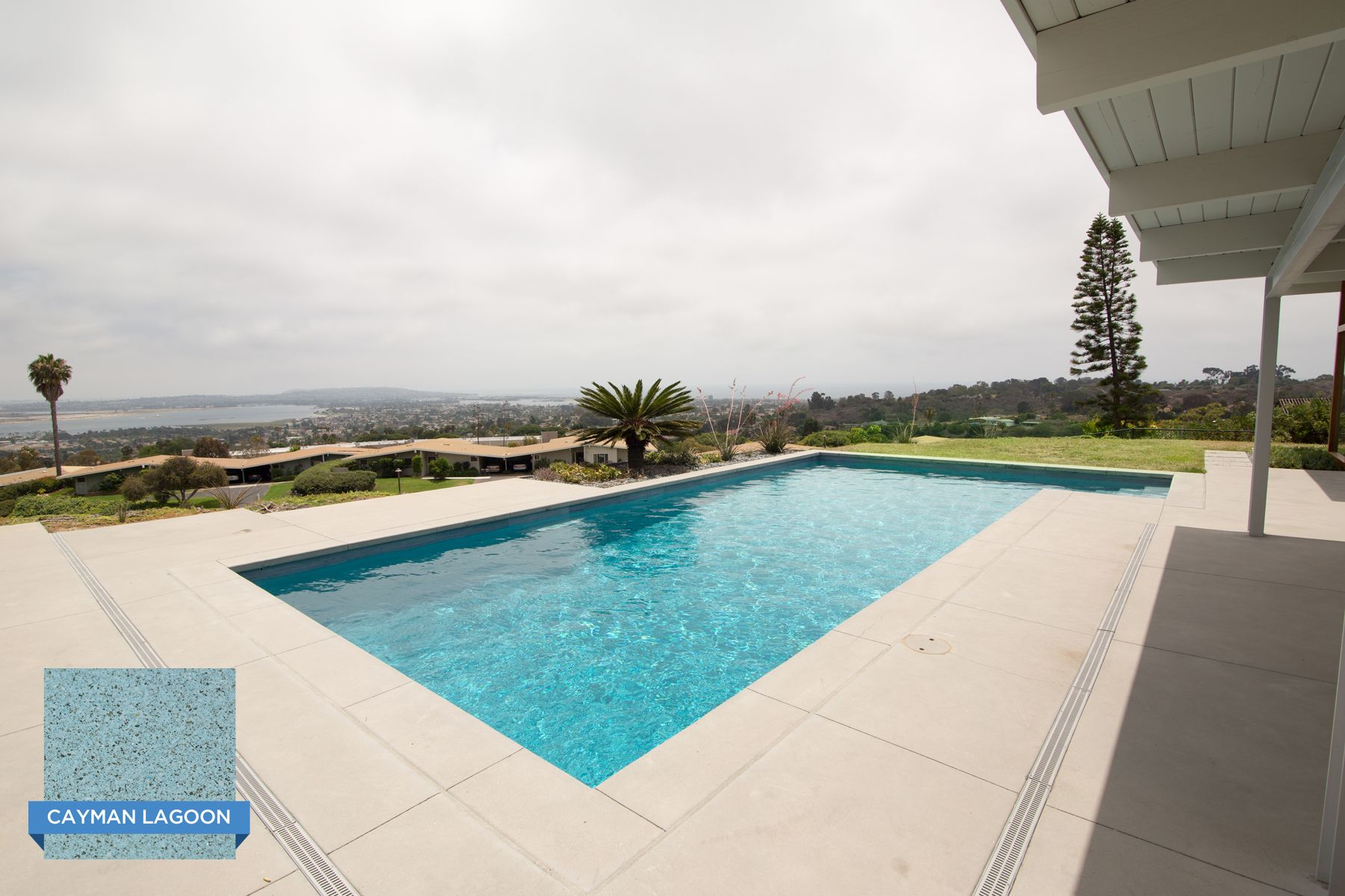 This Stylish Hill Top Pool In San Diego Ca Is Finished