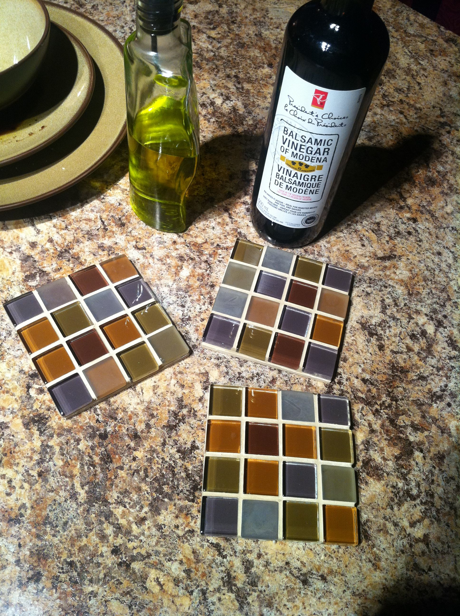 Coasters Made From Left Over Tile Sheets When Our