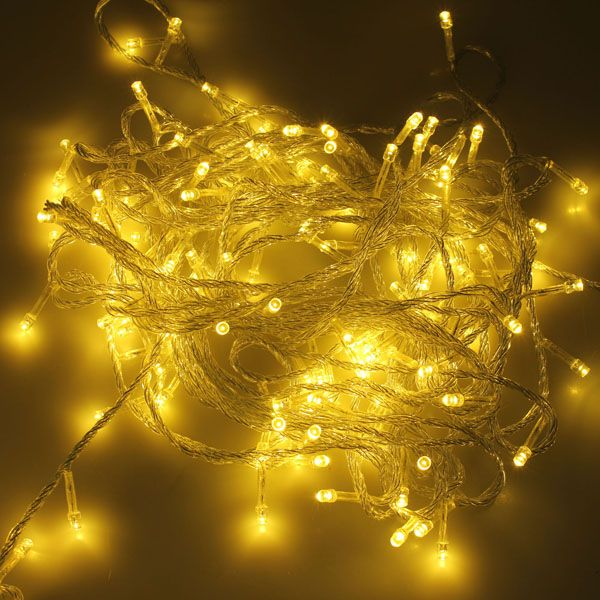 500 LED 50m Warm White String Decoration Light For Festival 220V - outdoor christmas decorations wholesale