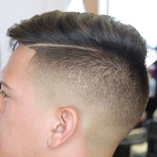 Delightful Disconnected Undercut And Comb Over
