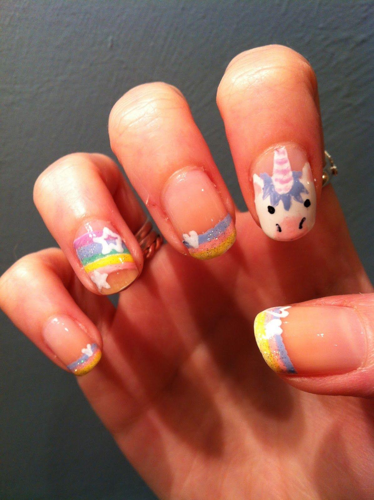 Ha! I love these. - NAILS!!!   Pinterest - Nagel ontwerp, Nagel en ...