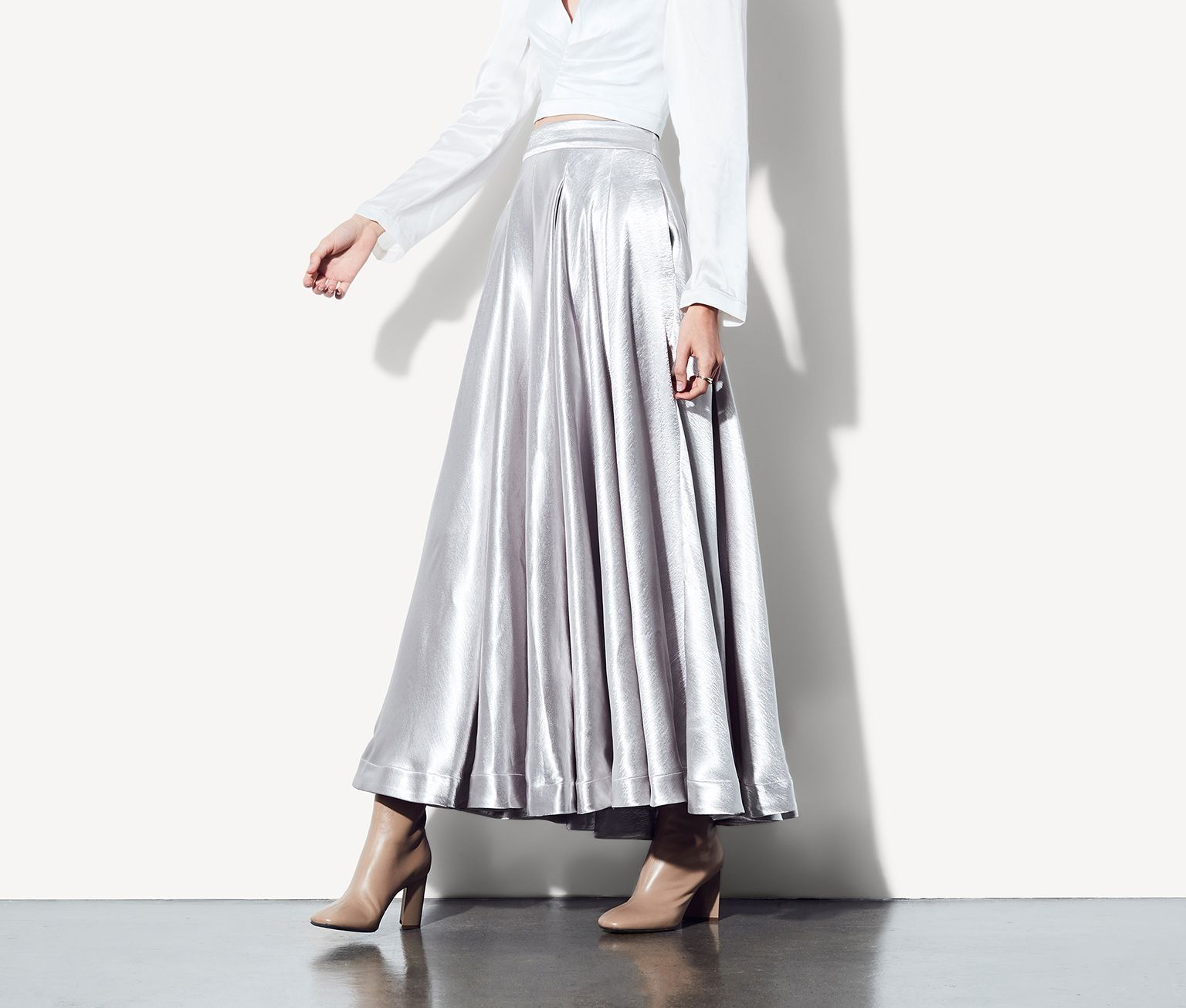 Silver The Meni Skirt Dress | Fame & Partners USA