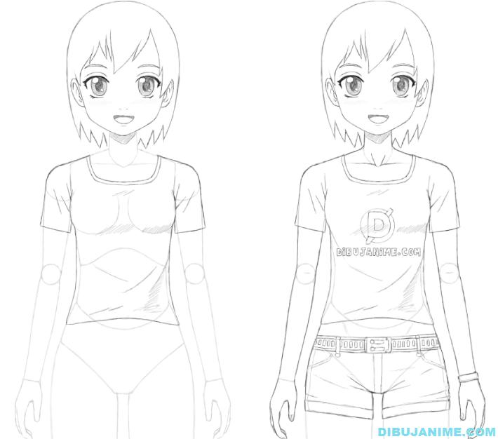 Como Dibujar A Una Mujer Anime Cuerpo Y Rostro Paso A Paso Ensenar A Dibujar Como Aprender A Dibujar Aprender A Dibujar Anime
