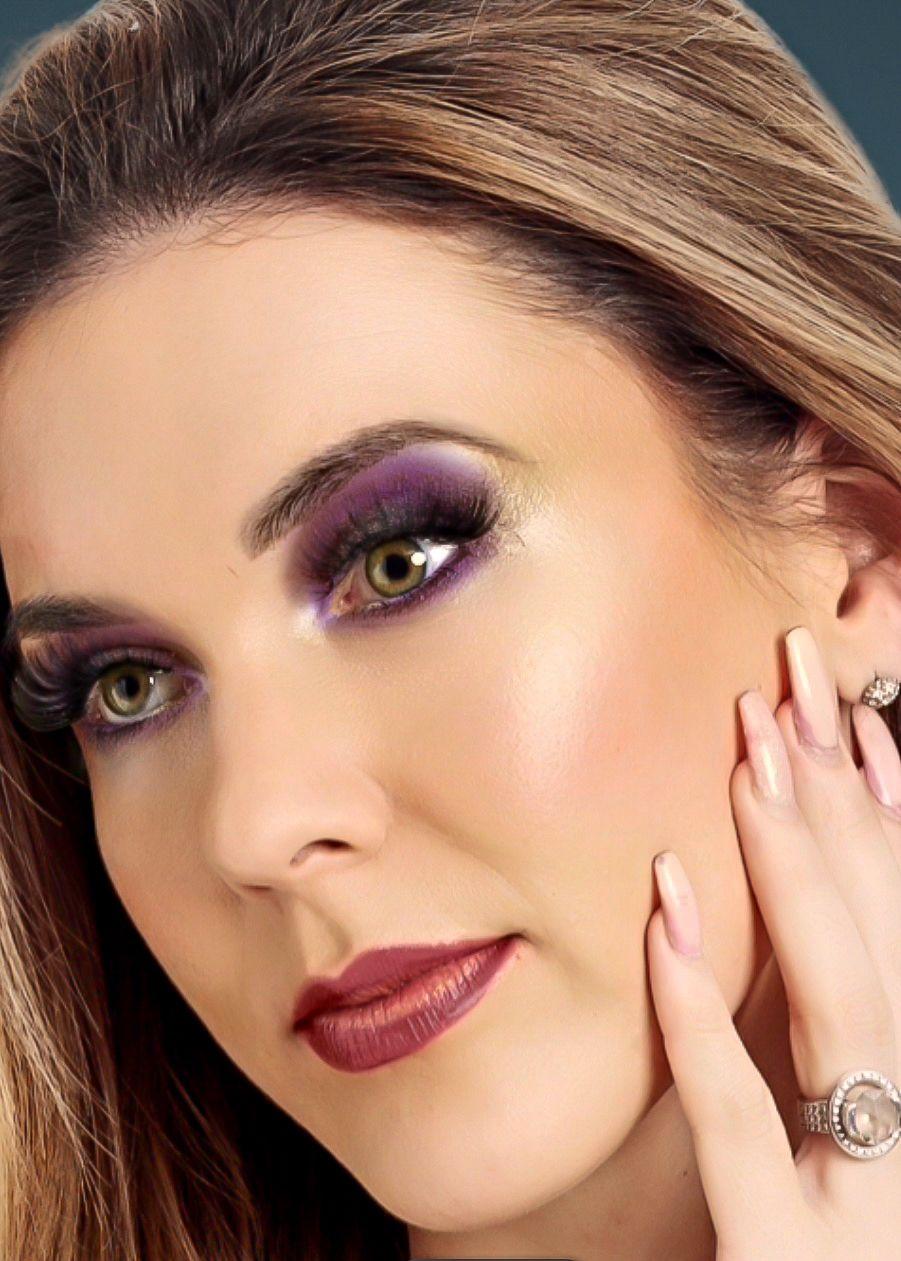 Purple eyeshadow works for blue eyes, brown eyes, green