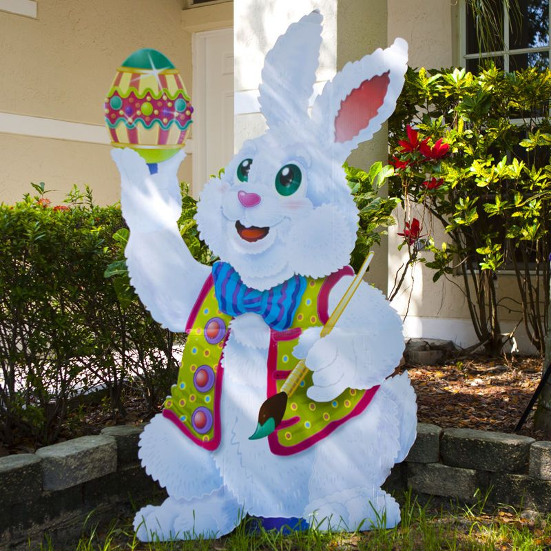 Backyard Ideas For Spring Decorating 6 Tips To Make: Shop For Easter Bunny Stand-Up, Decorations, Cardboard