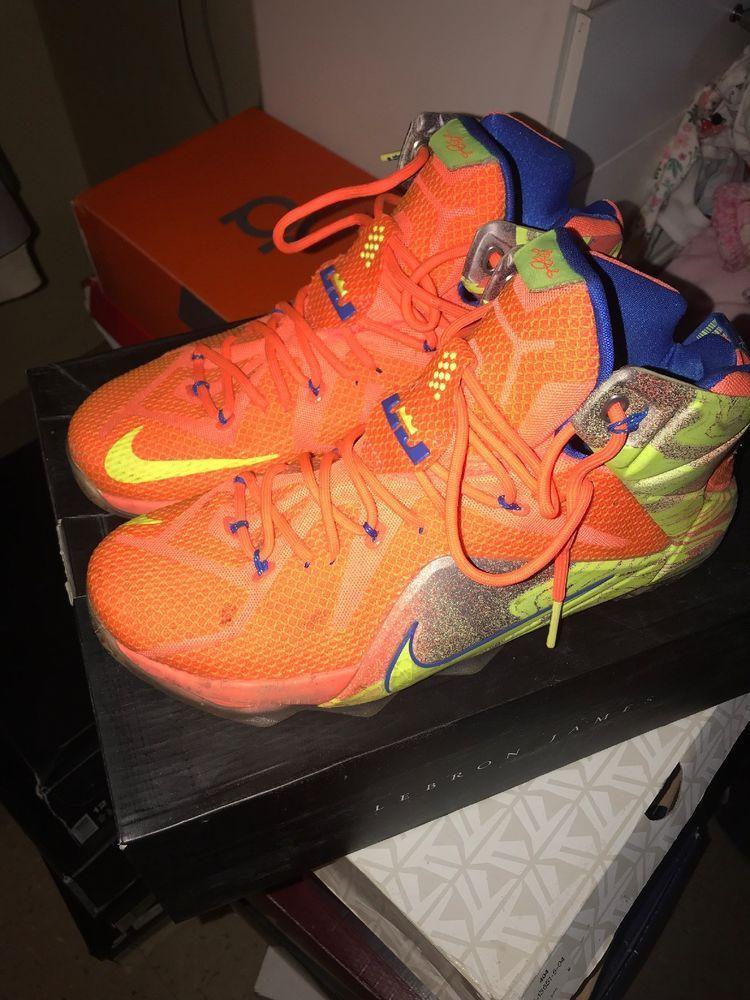 newest aaa6f 6c72a Nike LeBron 12 Basketball Shoes Size 12 - Citrus Orange ...