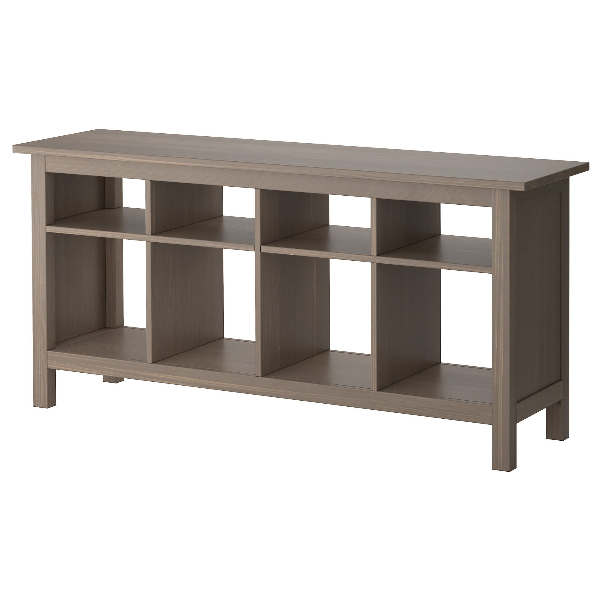 Hemnes sofa table gray brown ikea for just 179 future home hemnes sofa table ikea solid wood has a natural feel fill with baskets and use as toy storage for the kids in this grey brown color or in black brown geotapseo Choice Image