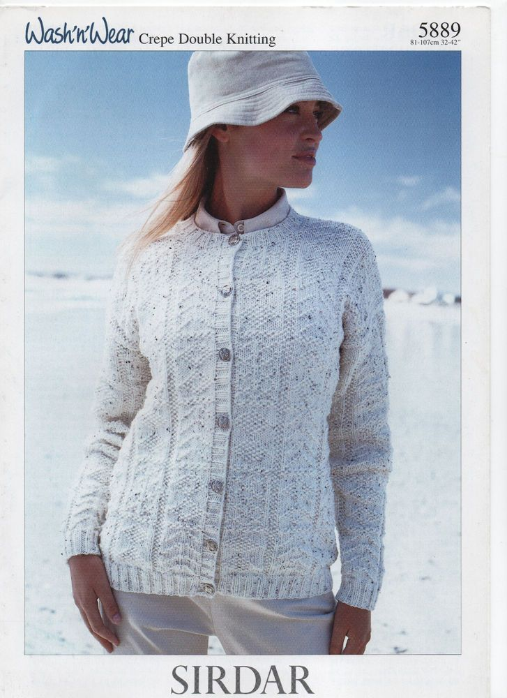SIRDAR DK fancyknit CARDIGAN knitting pattern | Knitted ...