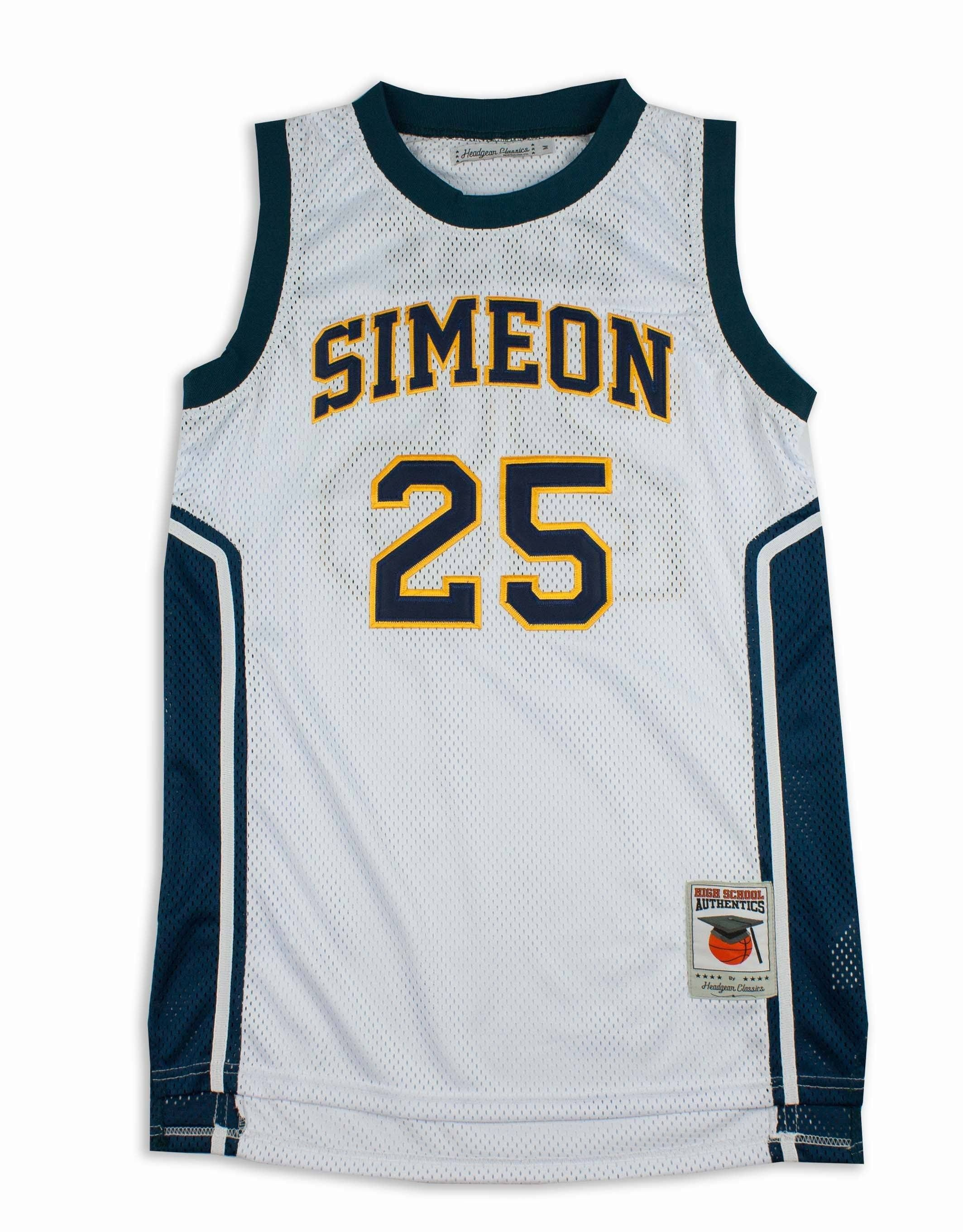 on sale 2b547 0cea1 Derrick Rose Simeon High School Retro Basketball Jersey ...