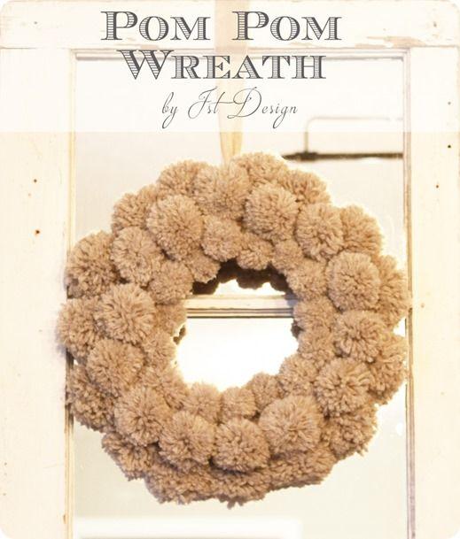 Photo of Fluffy Pom-Pom Winter Wreath – KnockOffDecor.com