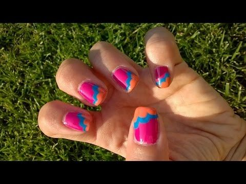 Tutorial Nail Art - Nuvolette - YouTube