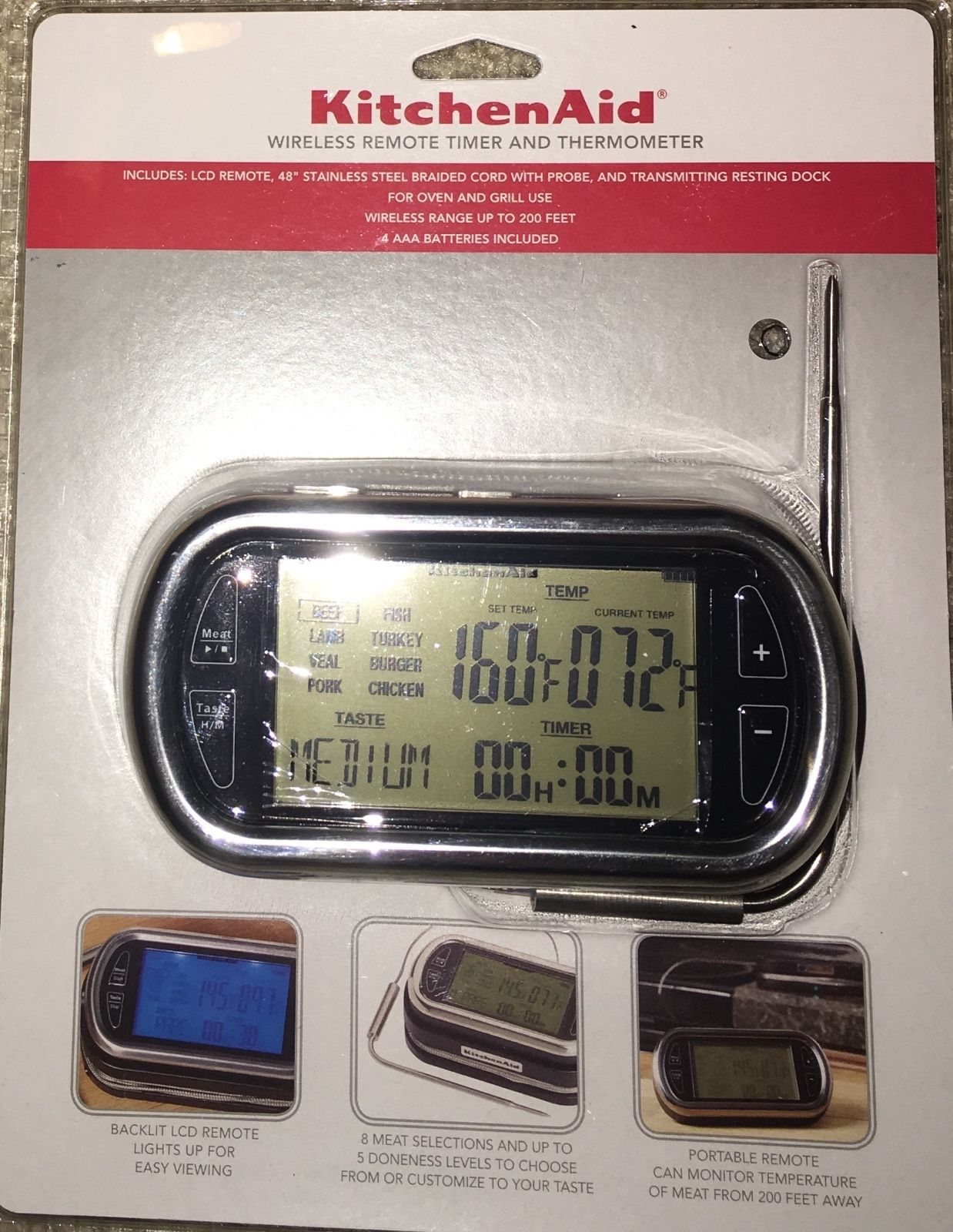Kitchenaid Timer Wireless Remote With Meat Thermometer Kitchenaid