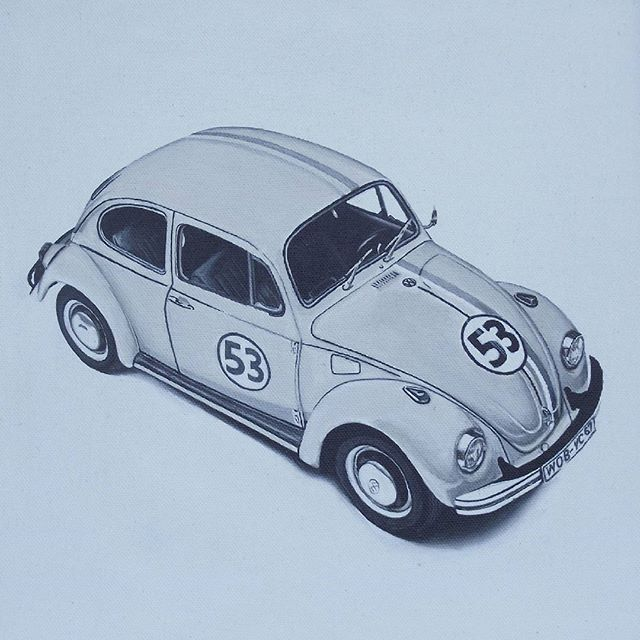 Yildirim Ince On Instagram Herbie Kucuk Isler Serisi Tuval Uzerine Akrilik Boya Arcylic On Canvas 25 X 25cm 2015 O Instagram Posts Instagram Toy Car