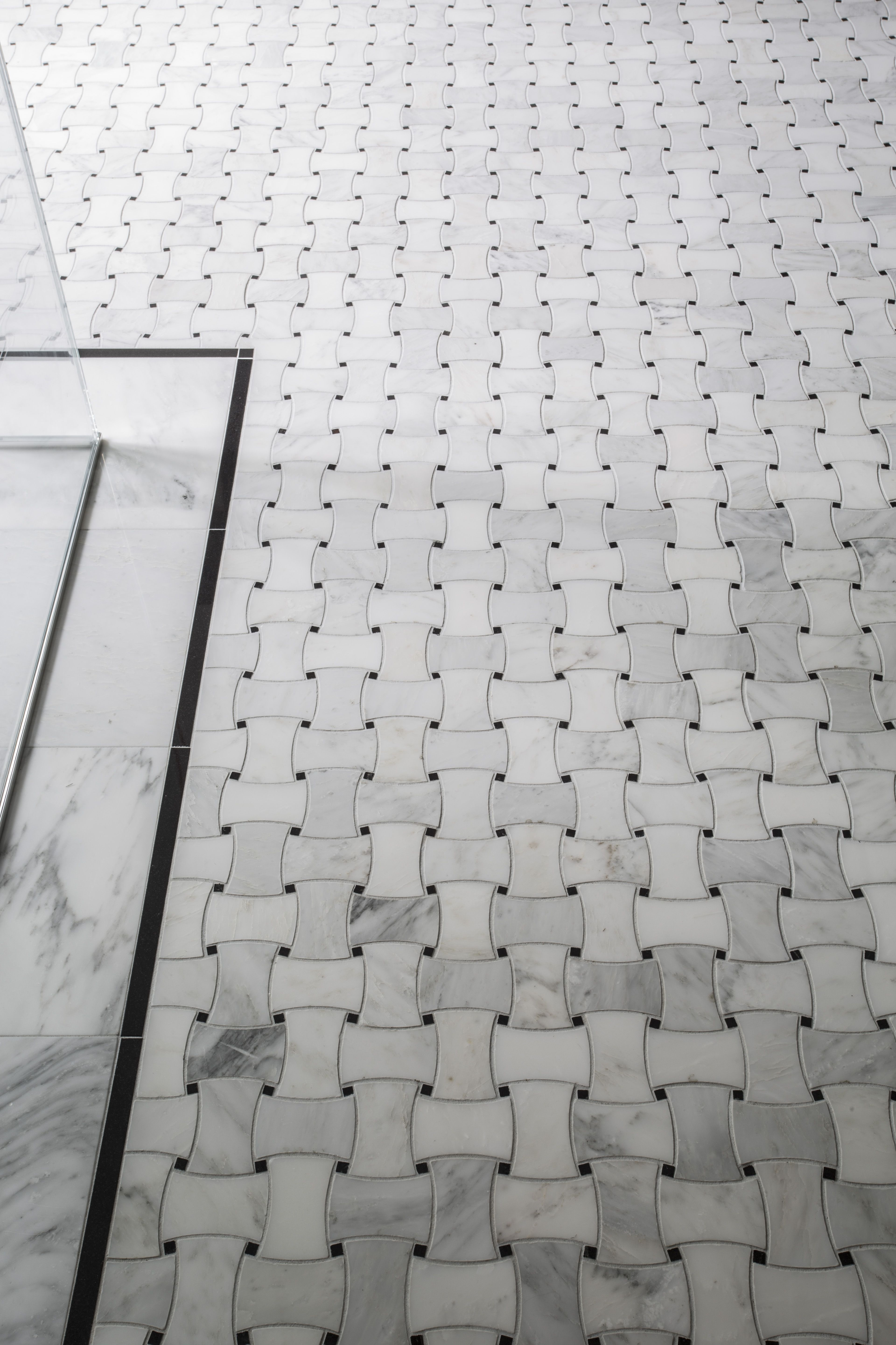 The basketweave tile pattern draws on the classic traditions of ...