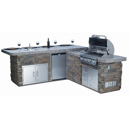 Bull Outdoor Gourmet-Q Grilling Island w/Built-In Grill ...