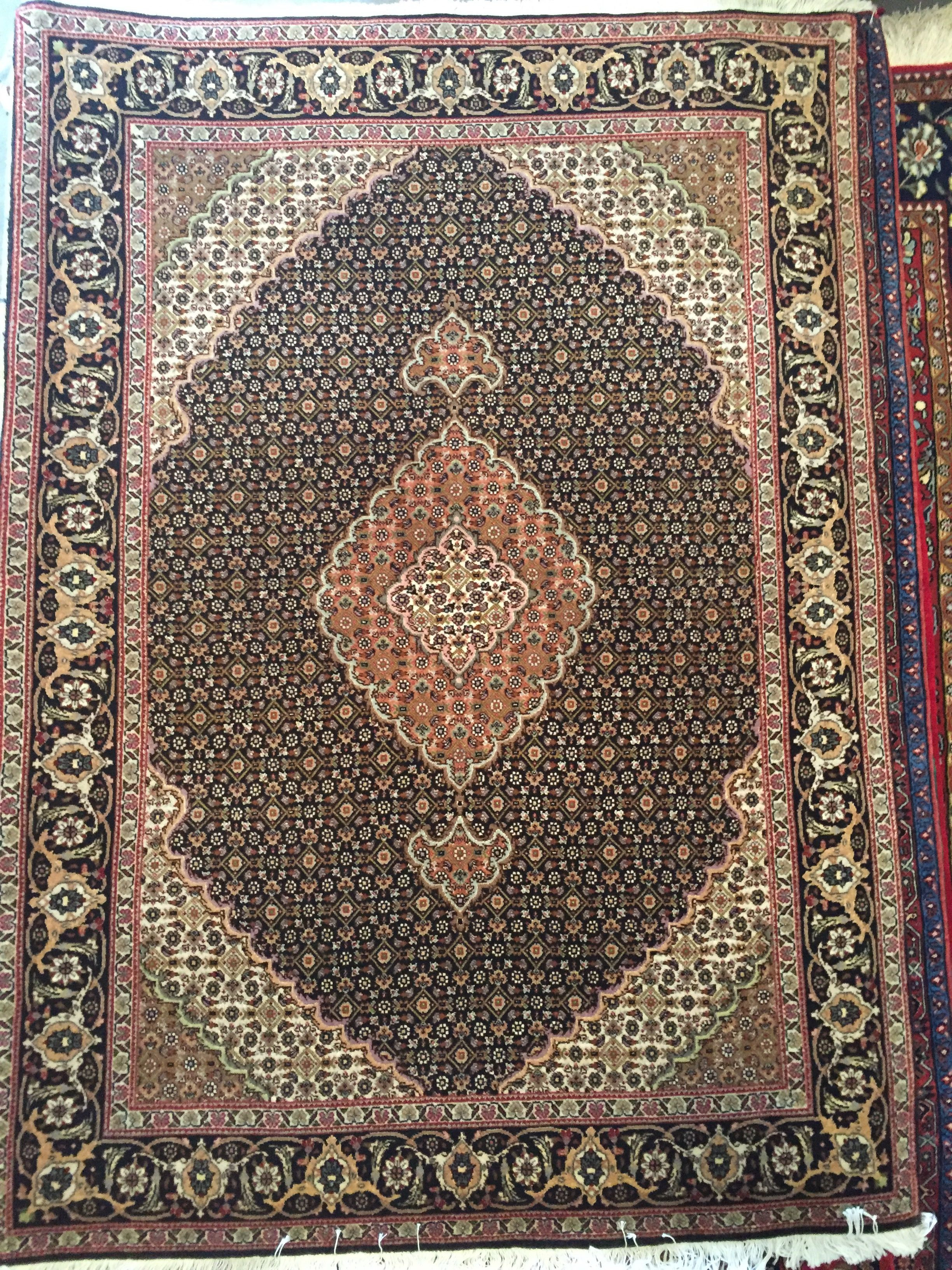 Handmade Tabriz Fish Design Silk And Wool Rug Gallery Hand Knotted Persian Rug Rug Store