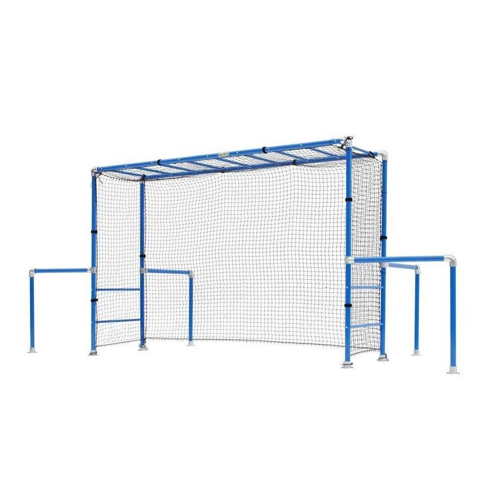 image result for funky monkey bars with soccer net backyard