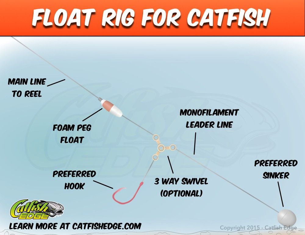 Float rig for catfish catfish genius pinterest for What kind of fish does captain d s use