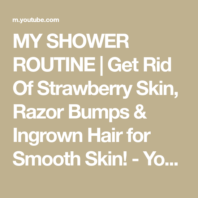 Get Rid Of Strawberry Skin, Razor