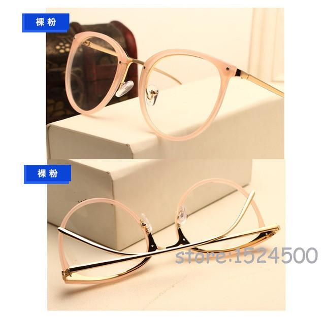 Jie B New Round Glasses Frame Vintage Women Optical Glasses Myopia