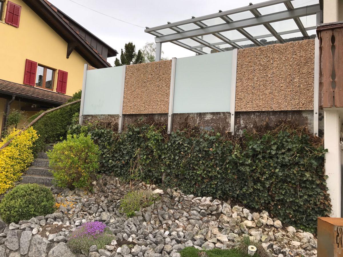 Sichtschutz / Absturzsicherung Edelstahl