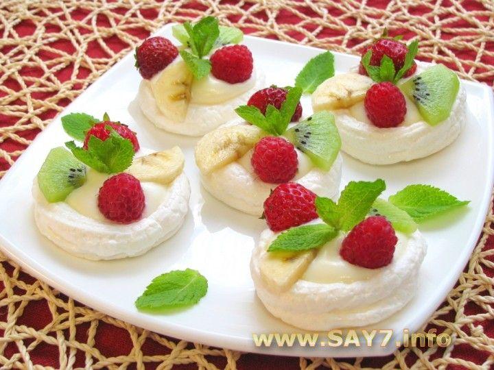 пирожние со фруктами с безем фото рецепт