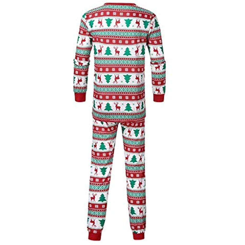 Bessky Ensemble Famille Assortie B/éb/é Fille Gar/çon Maman Papa Equip/ée V/êtements Hauts De pour Enfants No/ël Chemisier T Shirt Pantalon Sleepwear Romper Sleepsuit Pyjamas