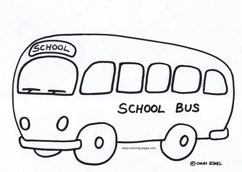 school bus coloring pages for preschoolers  bus coloring 5 842