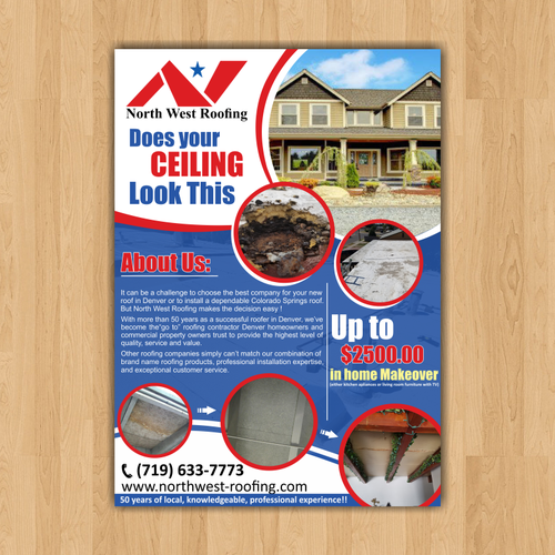 Roof Inspection Promo Postcard Flyer Or Print Contest Design Postcard Flyer Kayleena Window Company Roof Inspection Roofing Systems