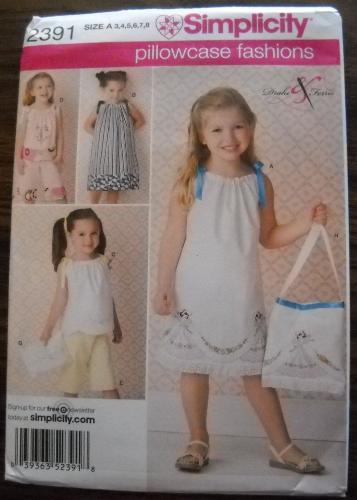 Diy Girls Size 7 8 Dress Girls Pillowcase Dress Pattern Sizes 3