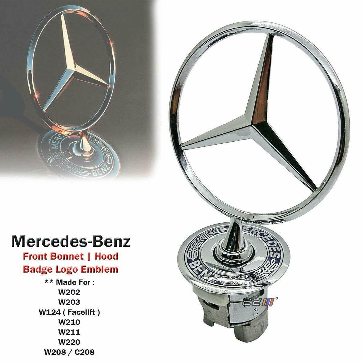 Mercedes Benz Star Hood Logo Emblem Badge 3d W210 W202 W203 C200 W211 Silver Mercedes Mercedes Benz Logo Mercedes Benz [ 1200 x 1200 Pixel ]