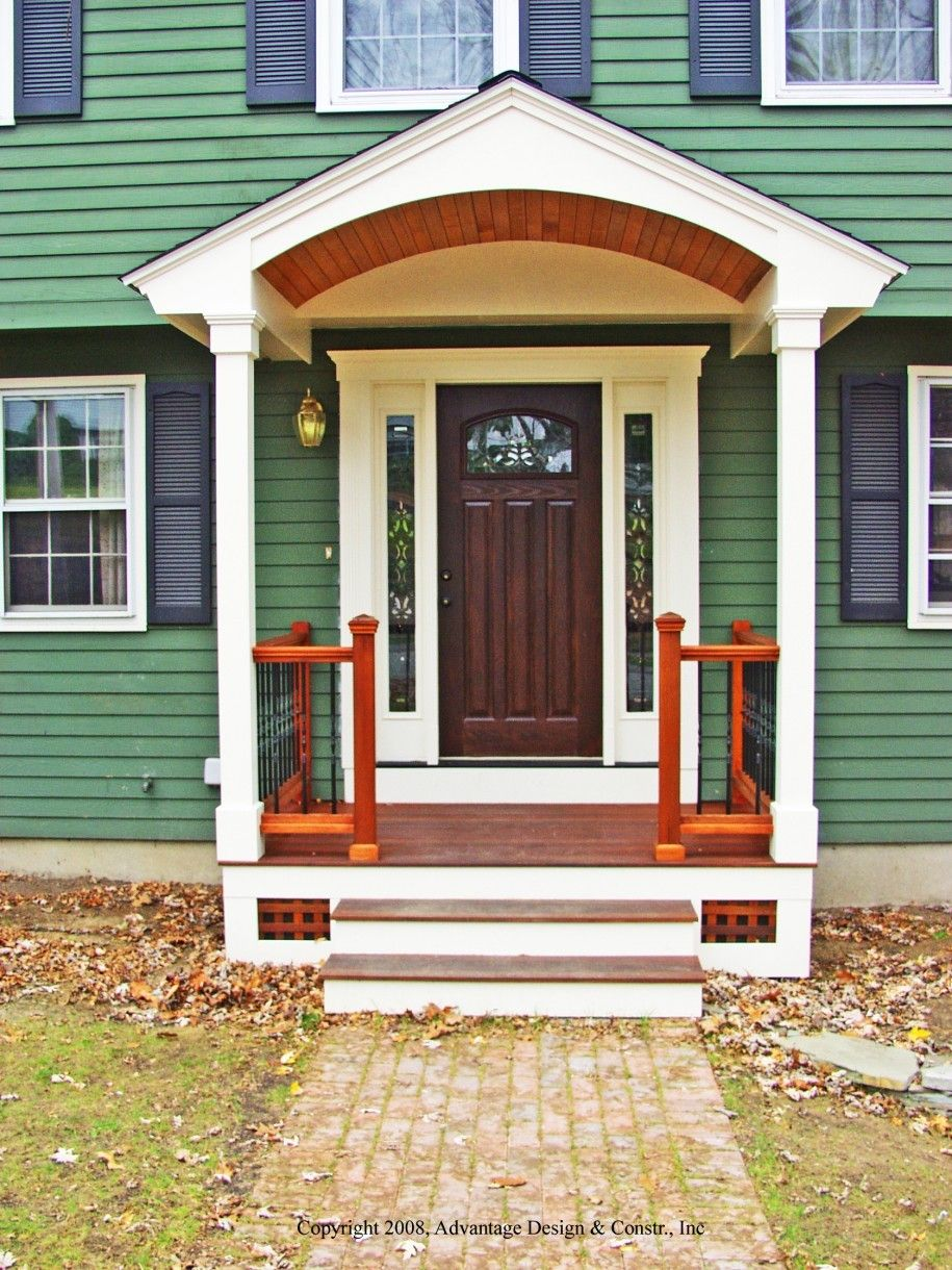Ordinary small front porch design ideas 15 exterior how to for Front porch plans free