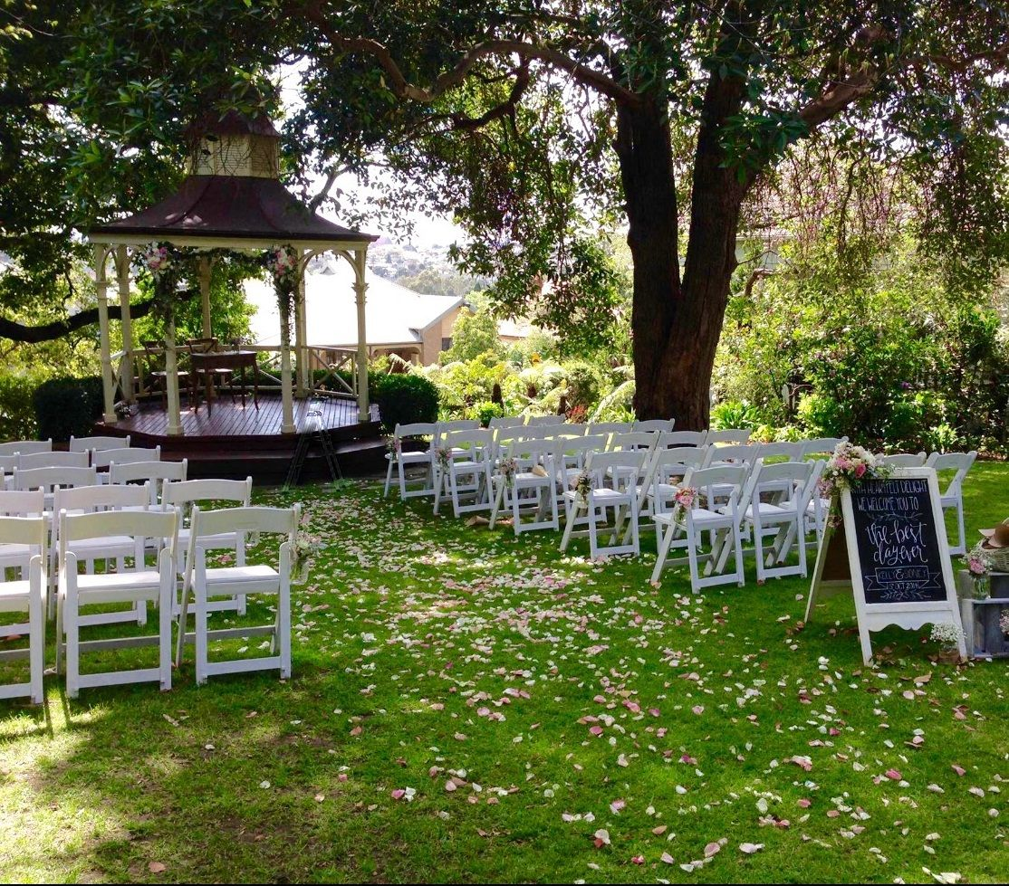 Wedding Ceremony And Reception Melbourne: The Ascot House Rotunda, A Featured Element In The Outdoor