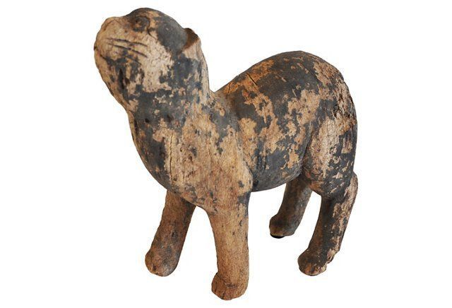 Eroded Wood Cat from Thailand Wood cat, Cats, Vintage