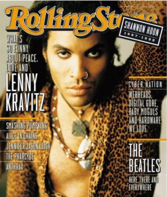 Lenny Kravitz With Images Rolling Stone Magazine Cover