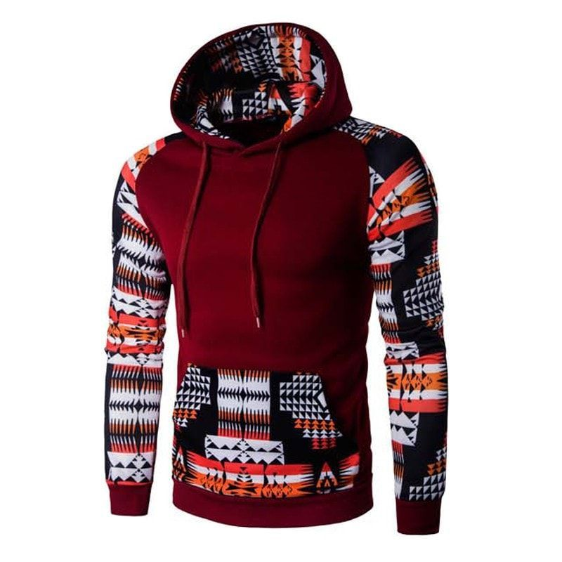 Unisex 3D Printing Hoodie Wolf Pattern Mens Baseball Uniform Pullover Sports Breathable Large Pocket Sweater