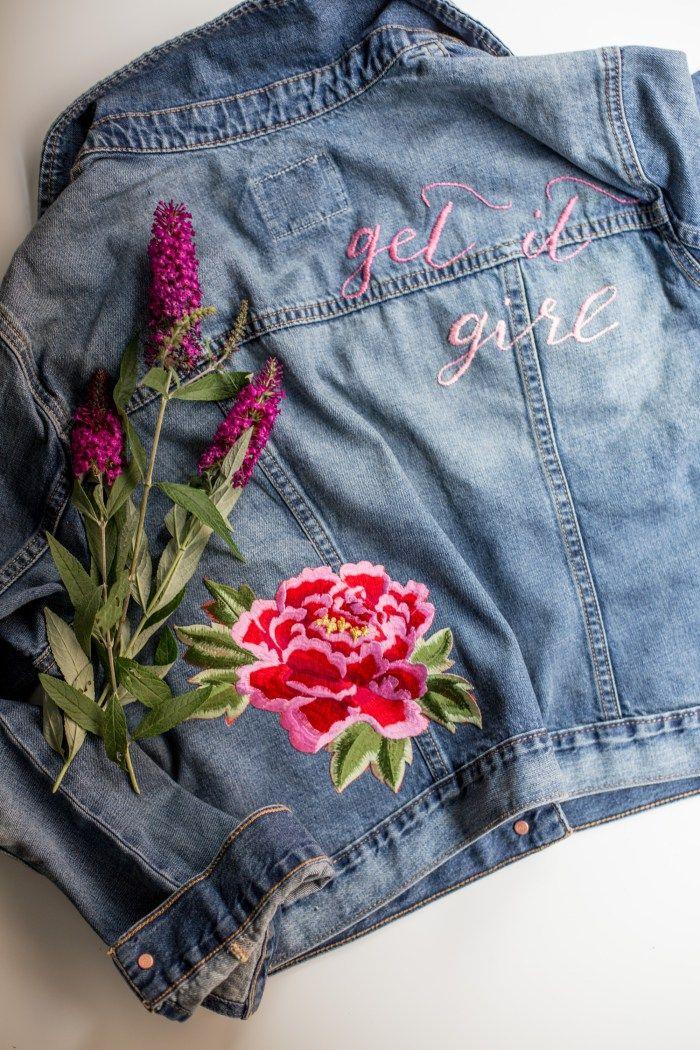Make A Fabulous Diy Embellished Jean Jacket Embroided