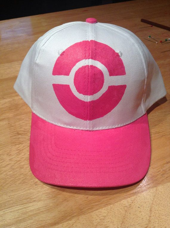fc8d98d597c3d Pink pokemon trainer hat by Aviculae on Etsy