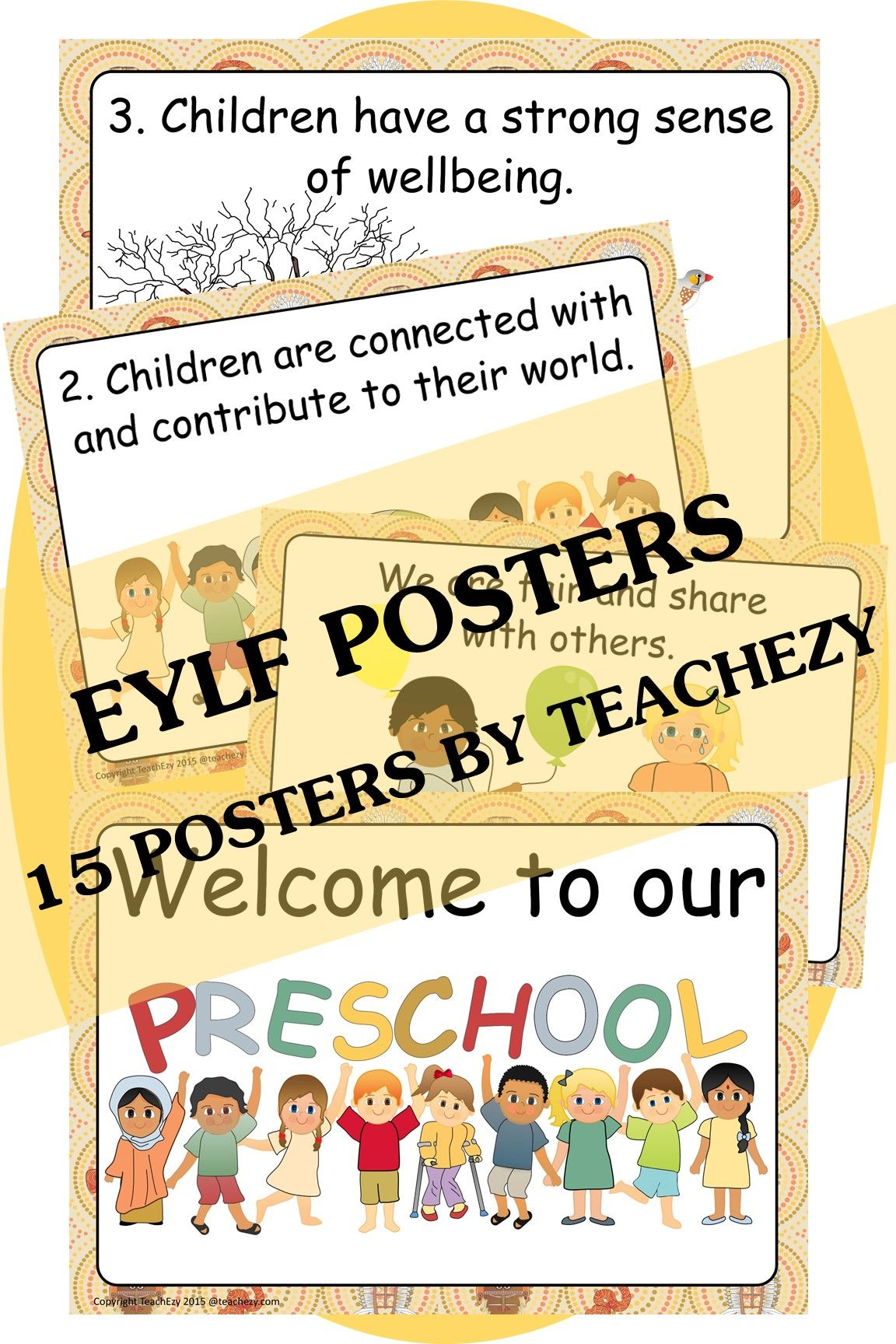 Eylf Posters With An Indigenous Aboriginal And Torres