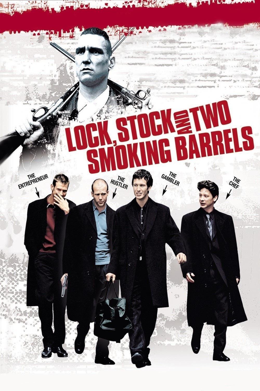 Classic British Film Movie Gangster Lock Stock and 2 Smoking Barrels T-shirt
