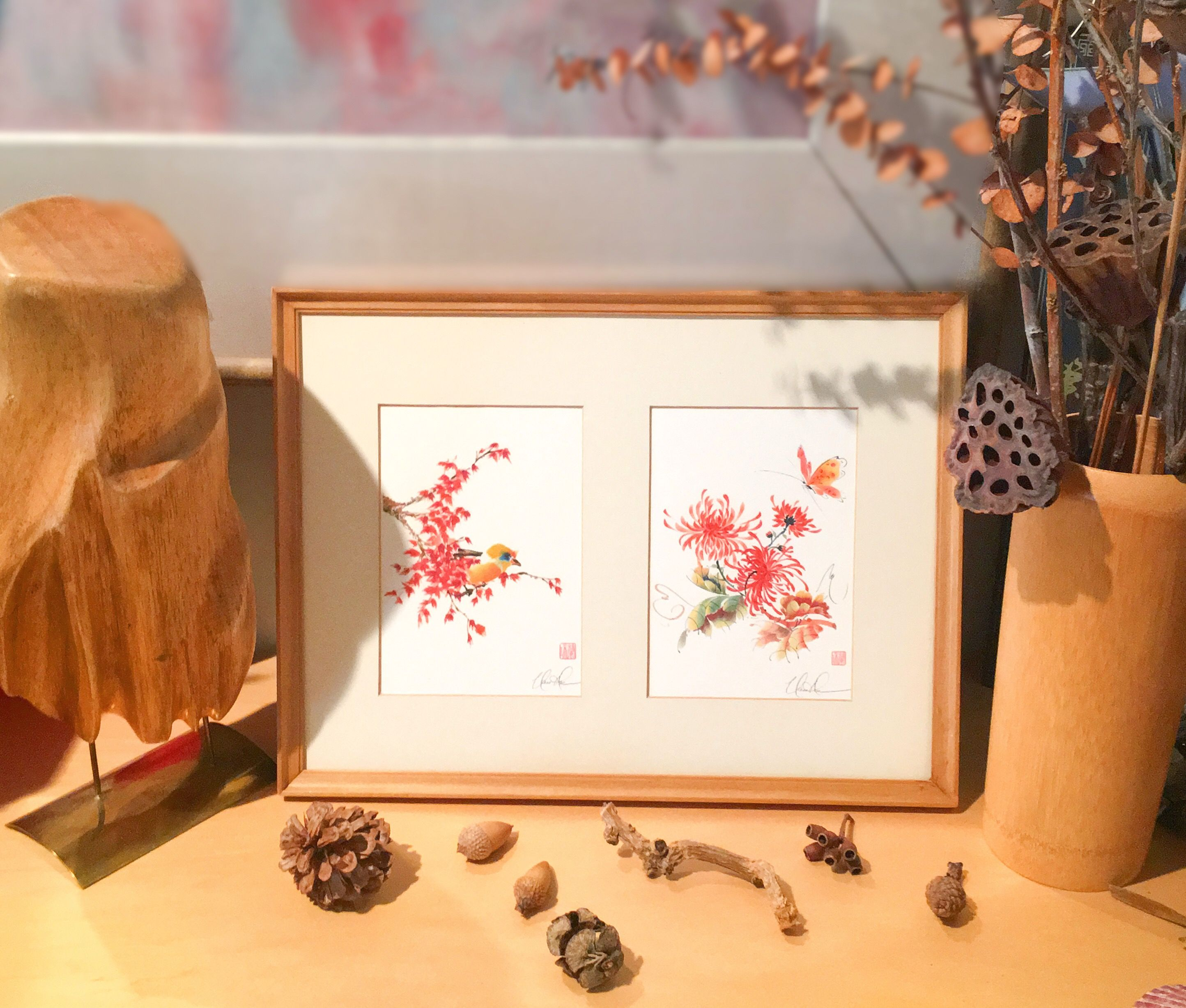 Almost Hidden And The Light Touch Framed Fine Art Greeting Cards