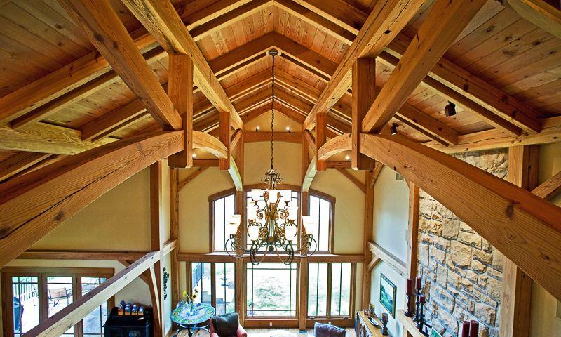 Parallel Chord Or Bridge Truss Timber Framing Pinterest Timber