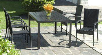 Pöytä SKAGEN P150cm+4 tuolia GUDHJEM | JYSK | Outdoor ...